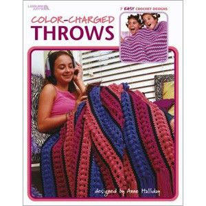 Leisure Arts 3528 Color-Charged Throws to Crochet by Anne Halliday