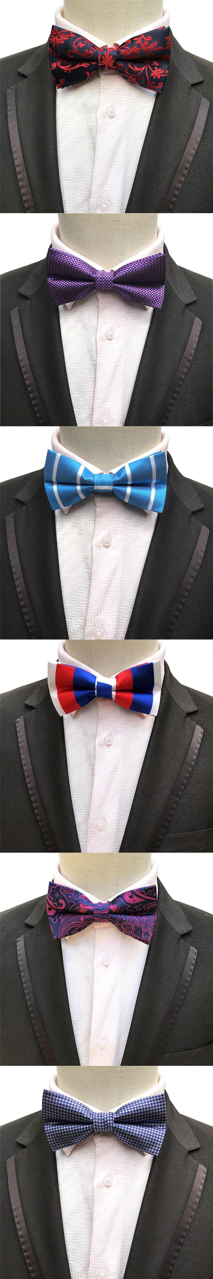 Mantieqingway Fashion Brand Bow Tie Groom Wedding Bowtie Vestidos Male Popular Striped Bow Ties for Men Polyester Bowties Tuxedo