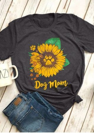 ce94ff082 Dog Mom Sunflower T-Shirt Tee - Bellelily | My Look in 2019 | Shirts ...