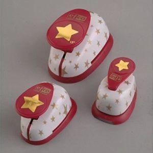 Juego de perforadoras con diseño de estrellas