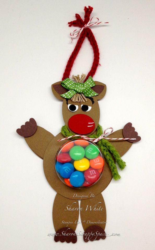 Reindeer Treat Cup Character - Sharon White