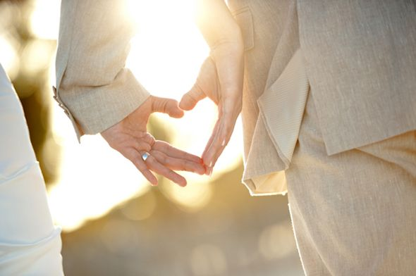 heart wedding photos