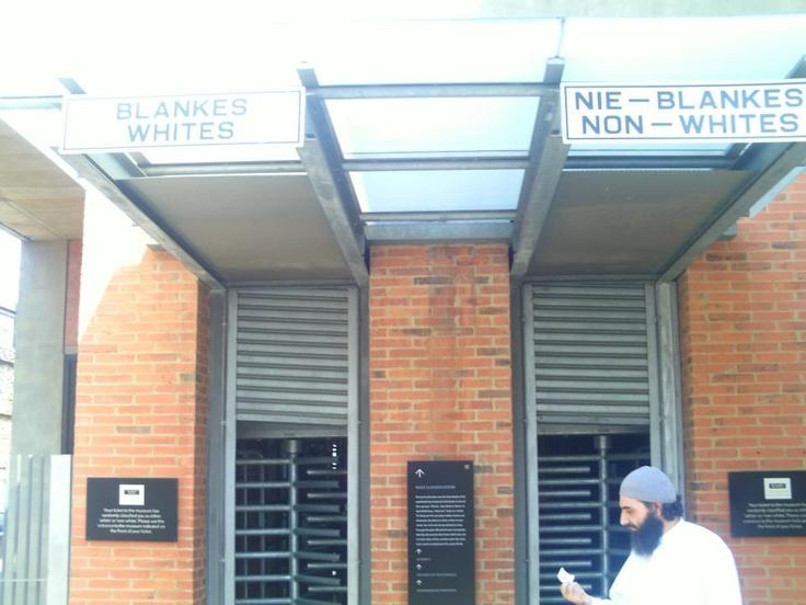 The Apartheid Museum II Whites - NON Whites   UNBELIEVABLE