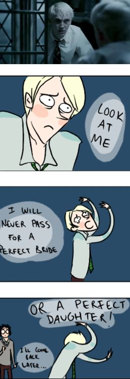Ahaha, I actually really like Tom/Draco in this scene, but this is hilarious.