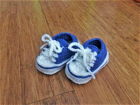 Baby Boy Shoes Baby Sneakers  Baby Converse Baby Booties
