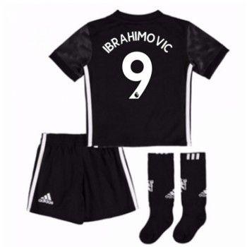 Manchester United Zlatan Ibrahimovic 9 kläder Barn 17-18 Bortatröja Kortärmad  #Billiga #fotbollströjor