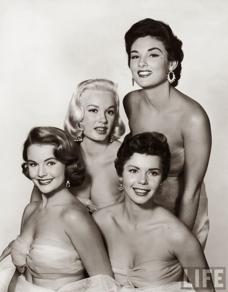 (From Left to Right) Myrna Hansen, Mamie Van Doren, Colleen Miller and Allison Hayes, 1954