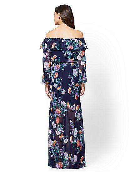 752428a9849f 7th Avenue - Floral Off-The-Shoulder Maxi Dress - New York   Company ...