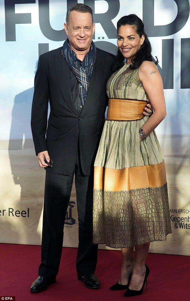 Regal: Tom Hanks and Sarita Choudhury attended the German premiere of his film A Hologram ...
