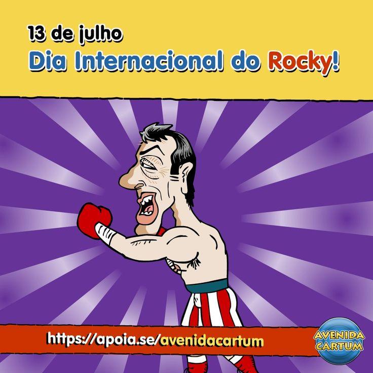 O meme do dia saiu com atraso, mas foi! Mais clichê impossível! E viva o Dia do Rock!  The Brazilian International 'Rocky' day!  #rock #rockandroll #rocknroll #diadorock #diamundialdorock #diainternacionaldorock #rocky #balboa #rockybalboa #stallone #sly #musica #boxe #piada #trocadilho #infame #niteroi #nikiti #nit #humor #criança #cartoon #hq #infantil #caricatura #AvenidaCartum