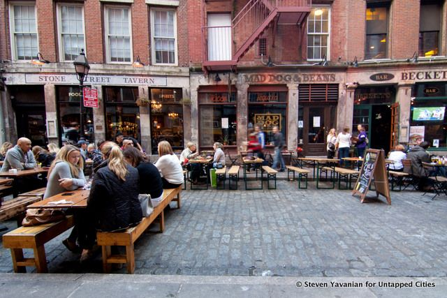 The History of Streets: Stone Street in NYC... Stone Street in NYC is rich in history, from it's original cobblestone roads to the divisive development of 85 Broad Street. We uncover how Stone St. came to be what it is today.