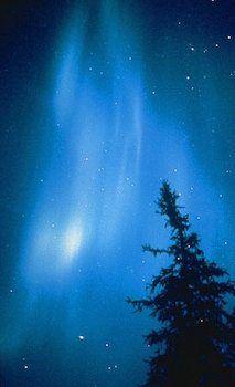 Blue Aurora Borealis