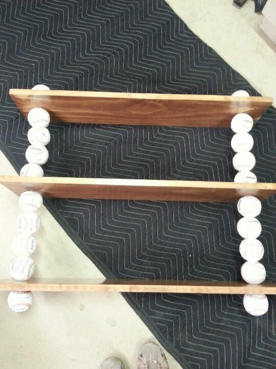 Baseball book shelf