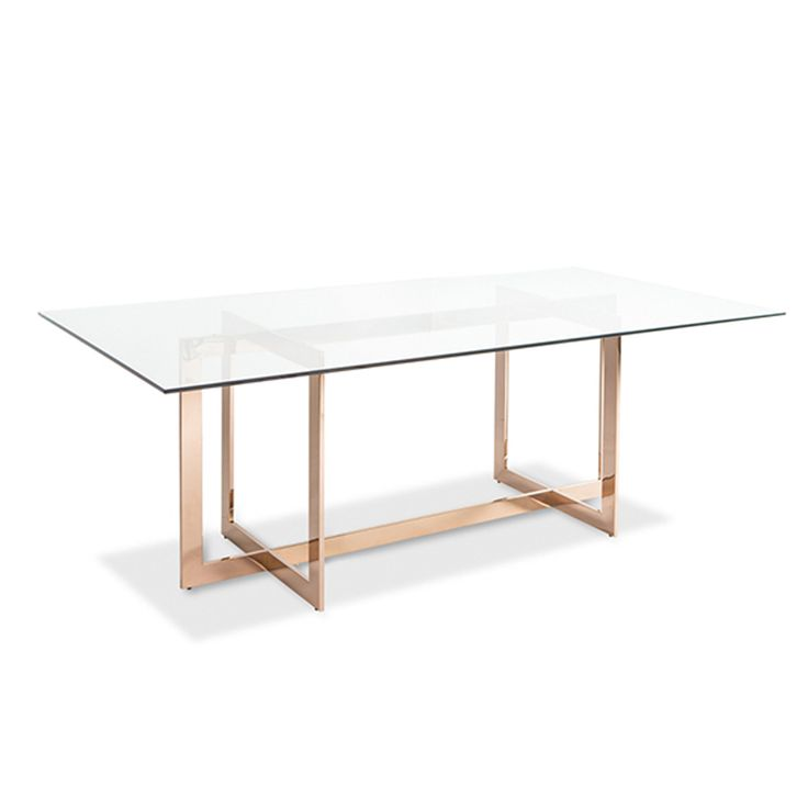Rectangle Glass Dining Table best 25+ glass dining table ideas on pinterest | glass dining room