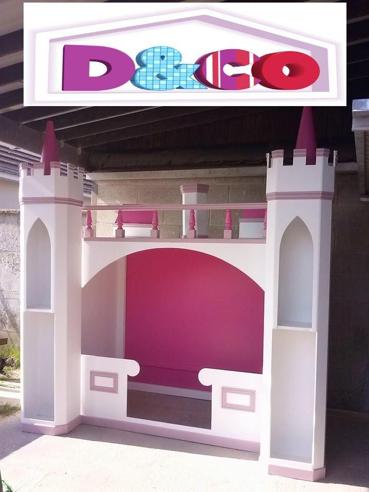 les 25 meilleures id es de la cat gorie lit ch teau sur pinterest lits de princesse salle de. Black Bedroom Furniture Sets. Home Design Ideas
