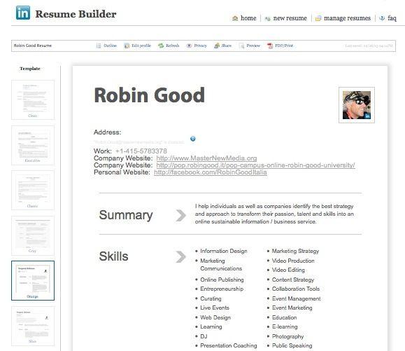 resume builder companies