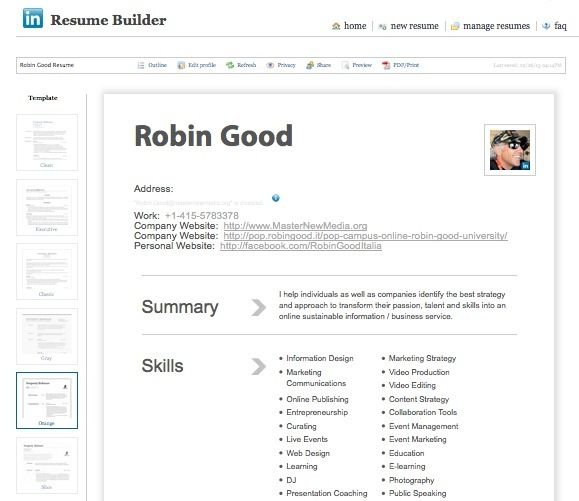 create a professional looking cv in seconds with linkedin resume builder
