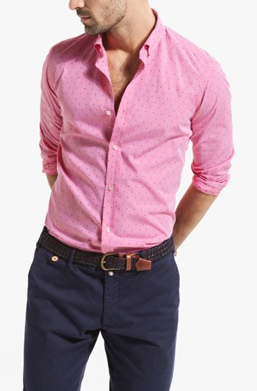CAMICIA FIL COUPÉ POIS SLIM - Camicie stampate - Camicie casual - MEN - Italia