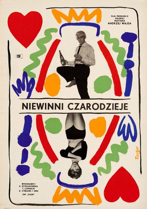 Wojciech Fangor, poster for Innocent Sorcerers by Andrzej Wajda, Poland, 1960.