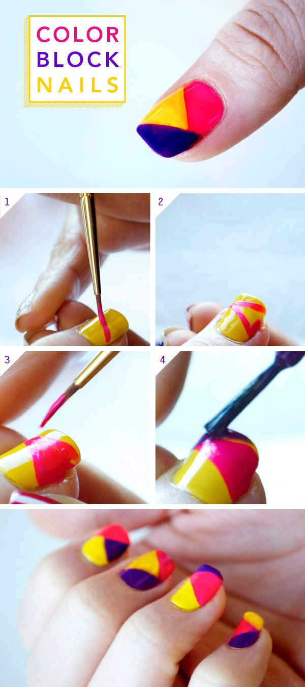 Neon Colorblock Nail Tutorial