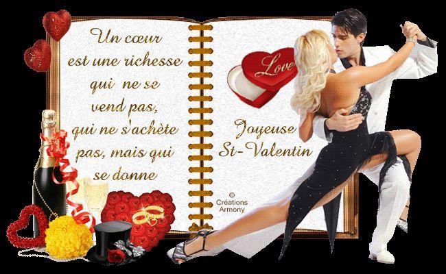 Cartes livres st-valentin, Creation Armony, Bonne St - Valentin,