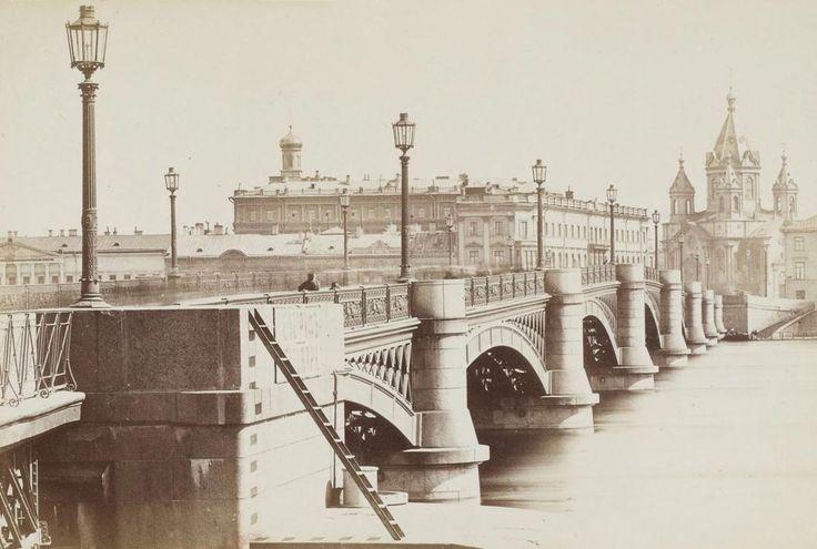 Николаевский мост.  1860-1880 г.