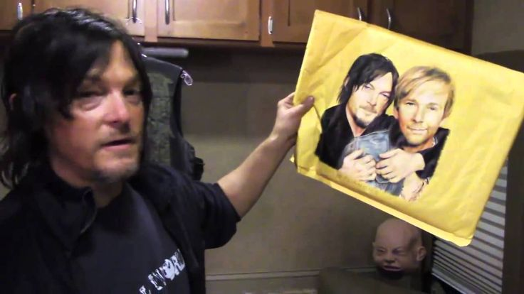 Norman Reedus gives a tour of his 'Walking Dead' trailer