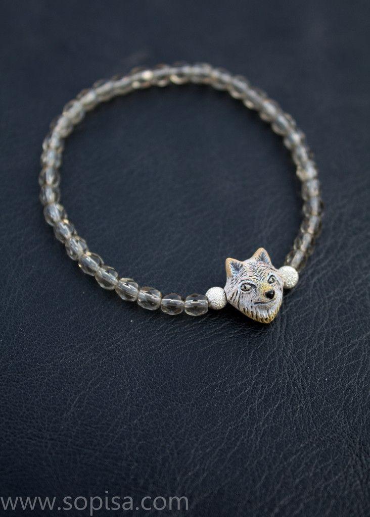 Jane wolf braclet. www.sopisa.com #wolfjewelry #wolf #wolfbracelet