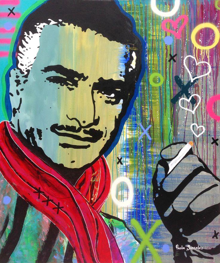 Art, mexican actor Mauricio Garces by Paola Gonzalez Art 155cm x 185 cm Www.paolagonzalez.com.mx Facebook: PaolaGonzalezArt