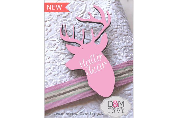 Deer chalkboard pegs by D&M made with love Pty Ltd on hellopretty.co.za
