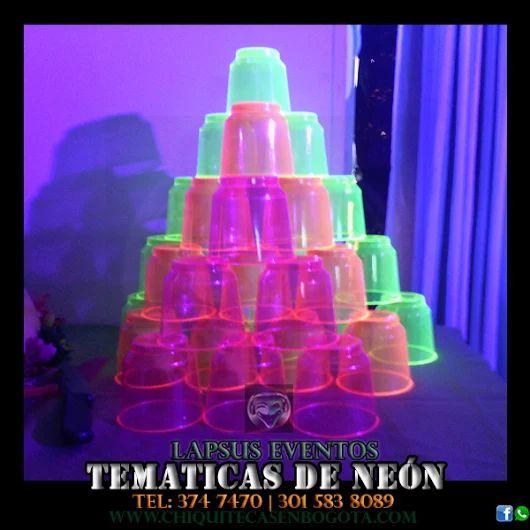 ¡Compra o realiza tu decoración de neón a tu estilo! Lapsus Eventos http://www.chiquitecasenbogota.com/tematica-de-neon-o-glow…/