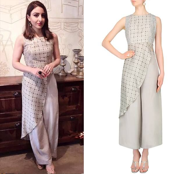 Soha Ali Khan Pataudi is keeping her summer stylish in this easy chic ensemble by @Label : Anushree  #getthelook #celebstyle #celebcloset #bollywood #sohaalikhan #anushree #perniaspopupshop #shopnow