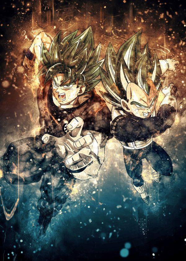 Goku Vs Vegeta Poster By Trần Văn Dũng Displate Anime Dragon Ball Super Dragon Ball Super Art Dragon Ball Super Goku