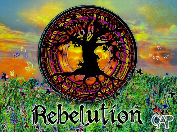 Rebelution Tree of Life Poster by Connor Purcell - Psychedelic Band Poster