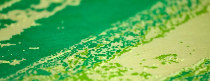 Nonwoven printed with thermochromic dye, by Textile Designer Marie Ledendal - marieledendal.se Photo: Henrik Bengtsson (Imaginara).