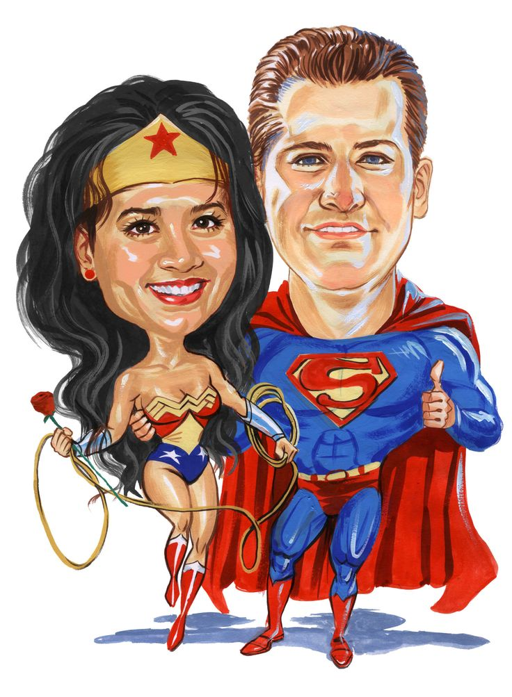 41 best caricatures images on pinterest caricatures pin - Superman wonder woman cartoon ...