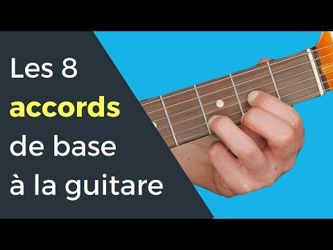 Les 8 accords de base pour débutant à la Guitare - YouTube
