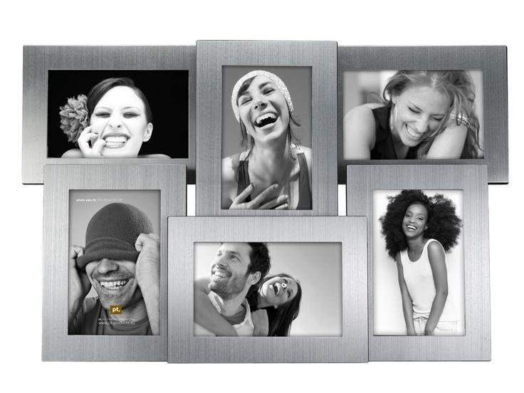 RVS-Fotolijst  voor 6 foto's van 10x15cm.  € 29,95