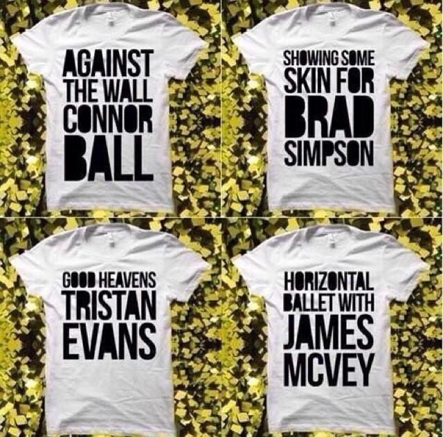 I want the brad simpson and Connor ball ones<3 I'd probably live in them ahahah