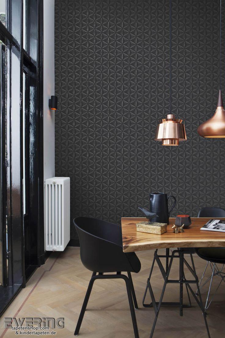 12-bn-voca-moods-03 Ein graphisches Muster ins schwarz wird von silbernen Linien aufgelockert.