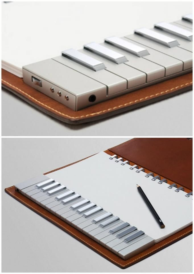 Good for the traveling musical idea haver! Keys on the go   Yamaha Keyboard Notebook.. pretty darned cool