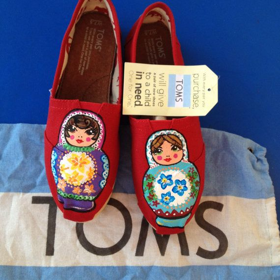 Russian Doll Custom Toms Shoes by xbrookemx on Etsy, $110.00