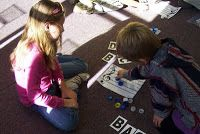 Mrs. King's Music Room: Spelling with a Bottle Cap Staff