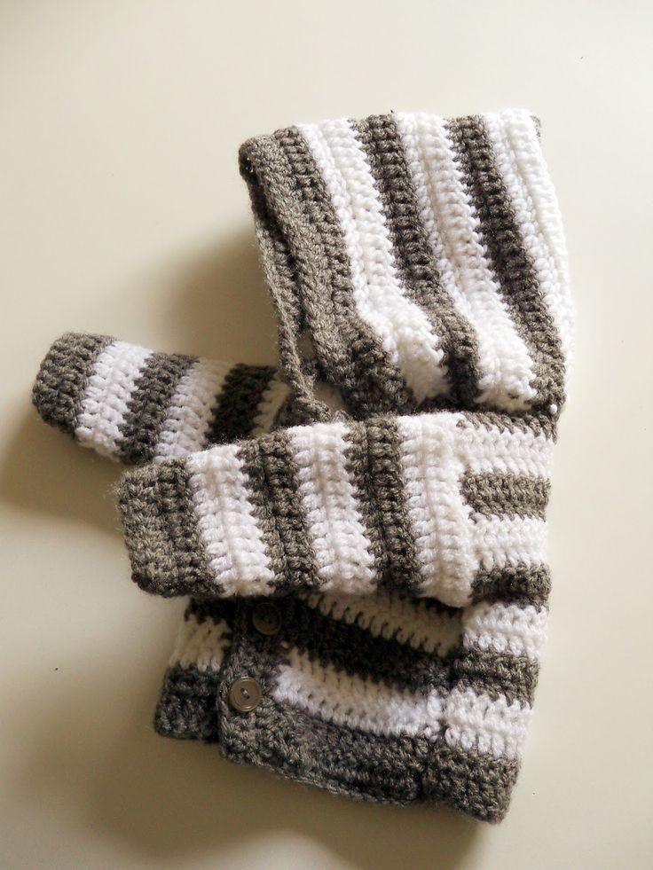 panpancrafts: Tutorial: simple crochet striped hooded baby jacket/