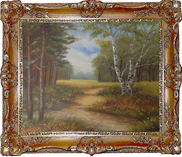 wald landschaft original moderne malerei gem lde kunst. Black Bedroom Furniture Sets. Home Design Ideas