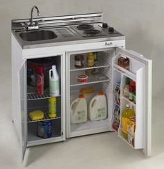 """Avanti 36"""" Complete Compact Kitchen with Refrigerator contemporary-major-kitchen-appliances"""