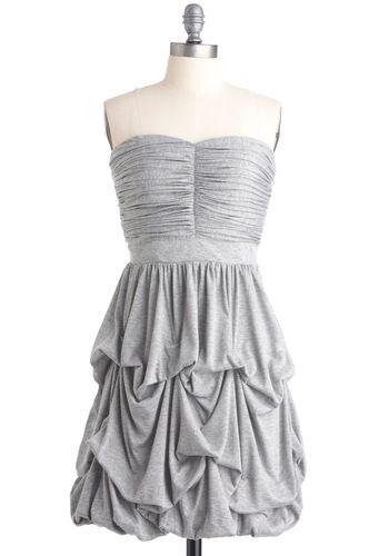 Cascades of Gray DressFashion, Cocktails Dresses, Formal Dresses, Clothing, Grey Bridesmaid Dresses, Pickup Skirts, Silver Dresses, Jersey Knits, Grey Dresses