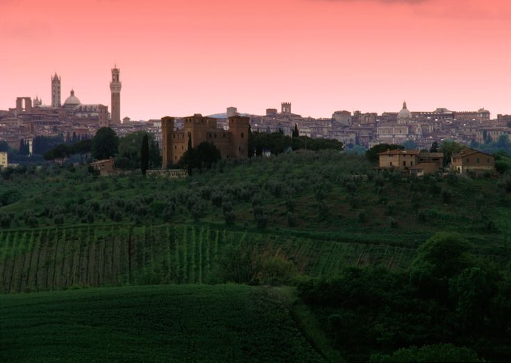 View of siena from countryside