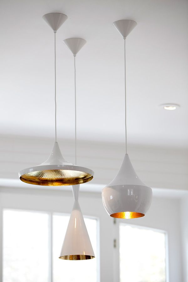 #white tom dixon #beat light pendants via studio number 19