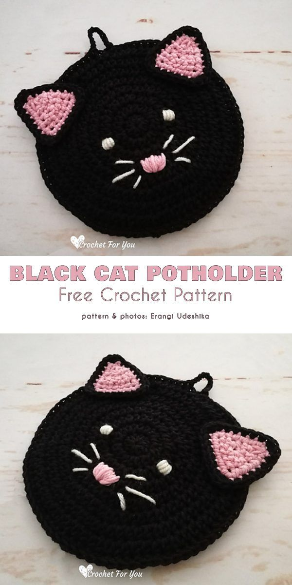 Black Cat Potholders